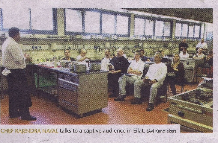 Chef Rajendra Nayal lecture in Eliat - Dan Hotels