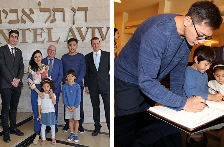 Mr. Liu Ye at Dan Tel Aviv hotel