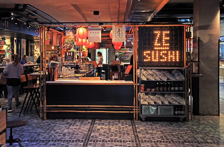 "Ze Sushi"" Restaurant at Sarona Market in Tel Aviv"