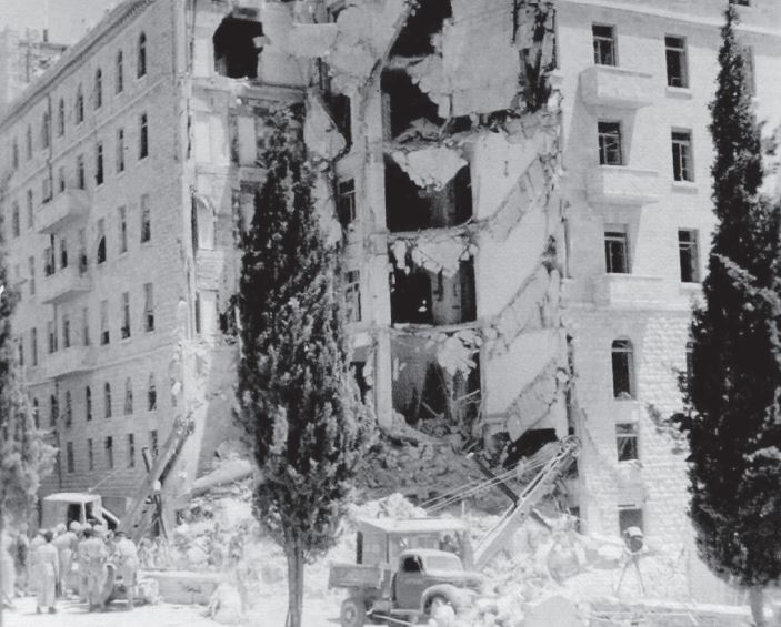 "exploded ""King David"" hotel wing"