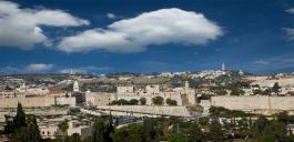Jerusalem Old City walls picture