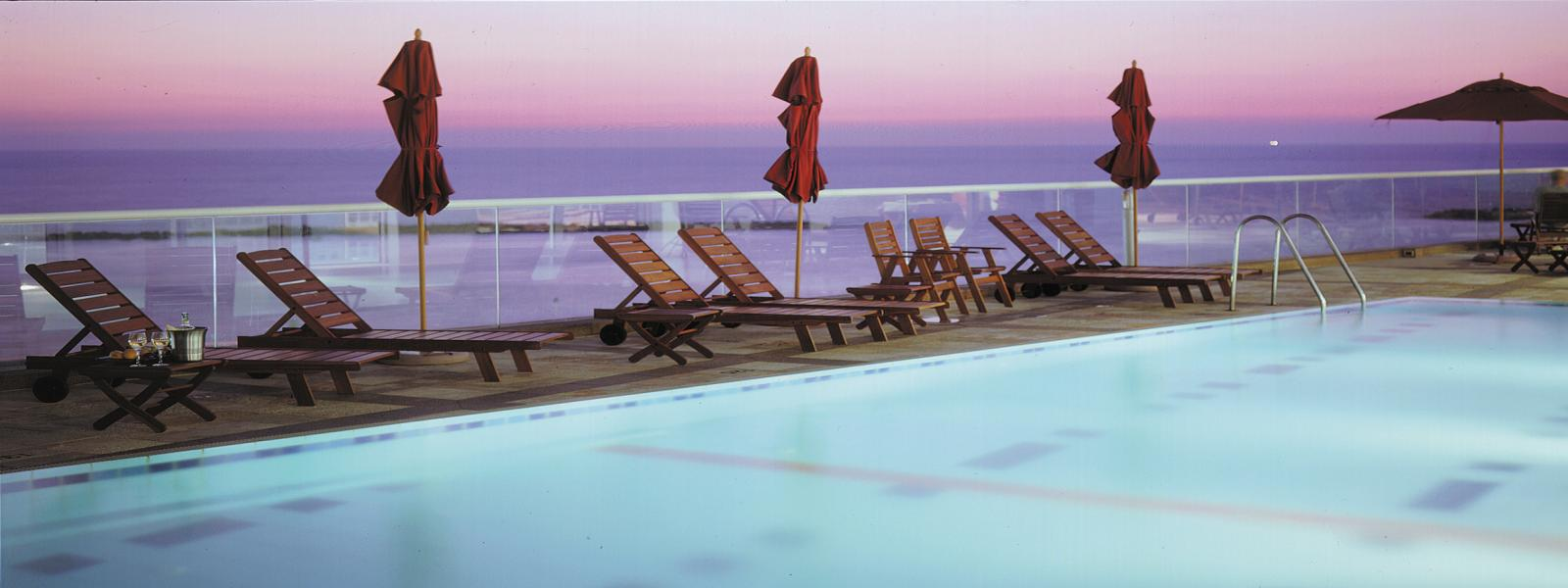 Dan Tel-Aviv pool at sunset picture
