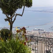 Haifa port and bay picture