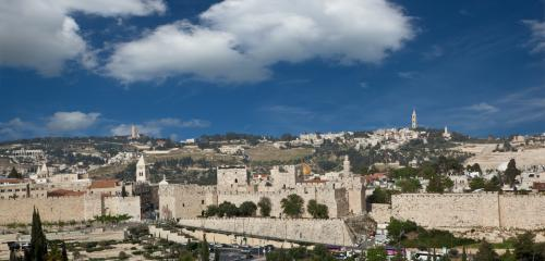 View of the Old City and Walls from the King david