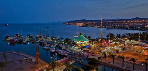 Eilat bay and marina picture