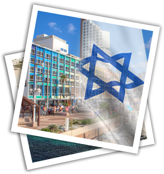 Israel Hotel and flag Picture